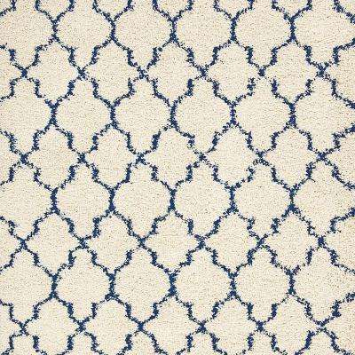 Casanova - Color Ivory/Blue Twist 13 ft. Carpet