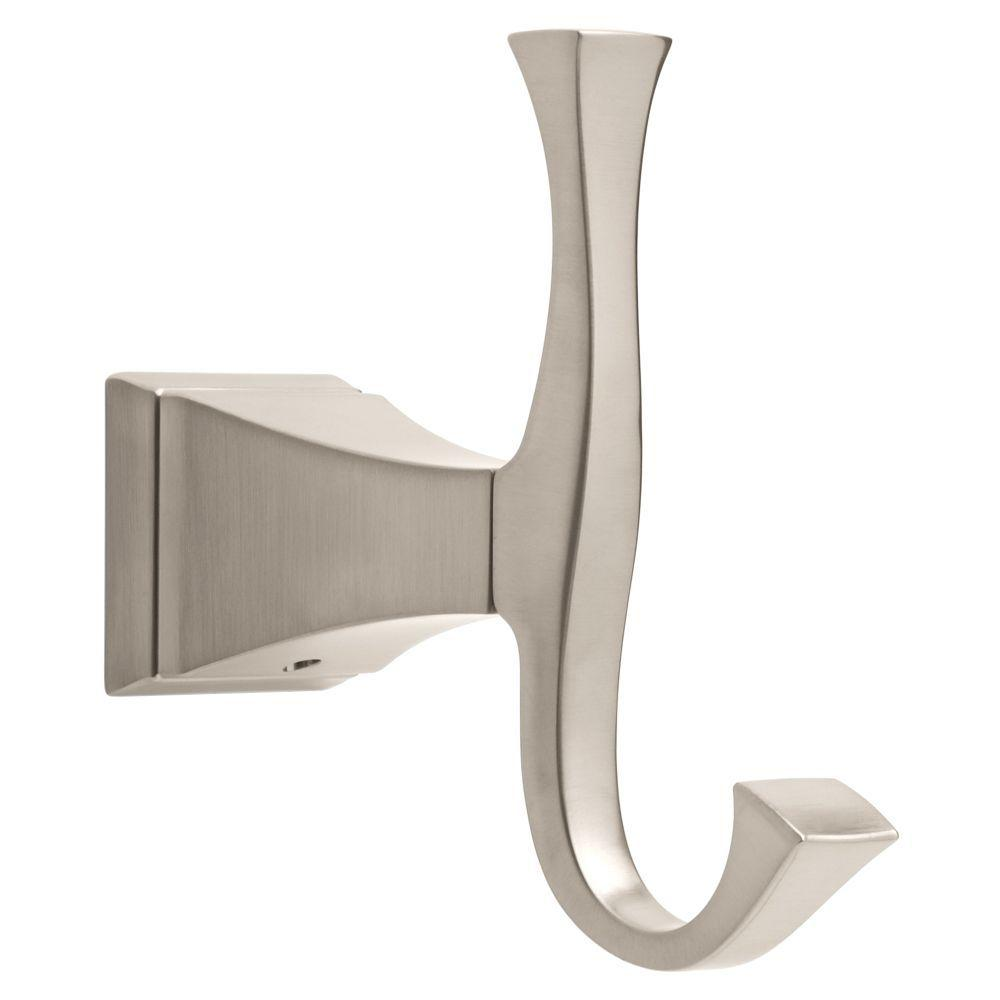 Modern Towel Hooks With Delta Dryden Double Towel Hook In Brilliance Stainless Stainless128890 The