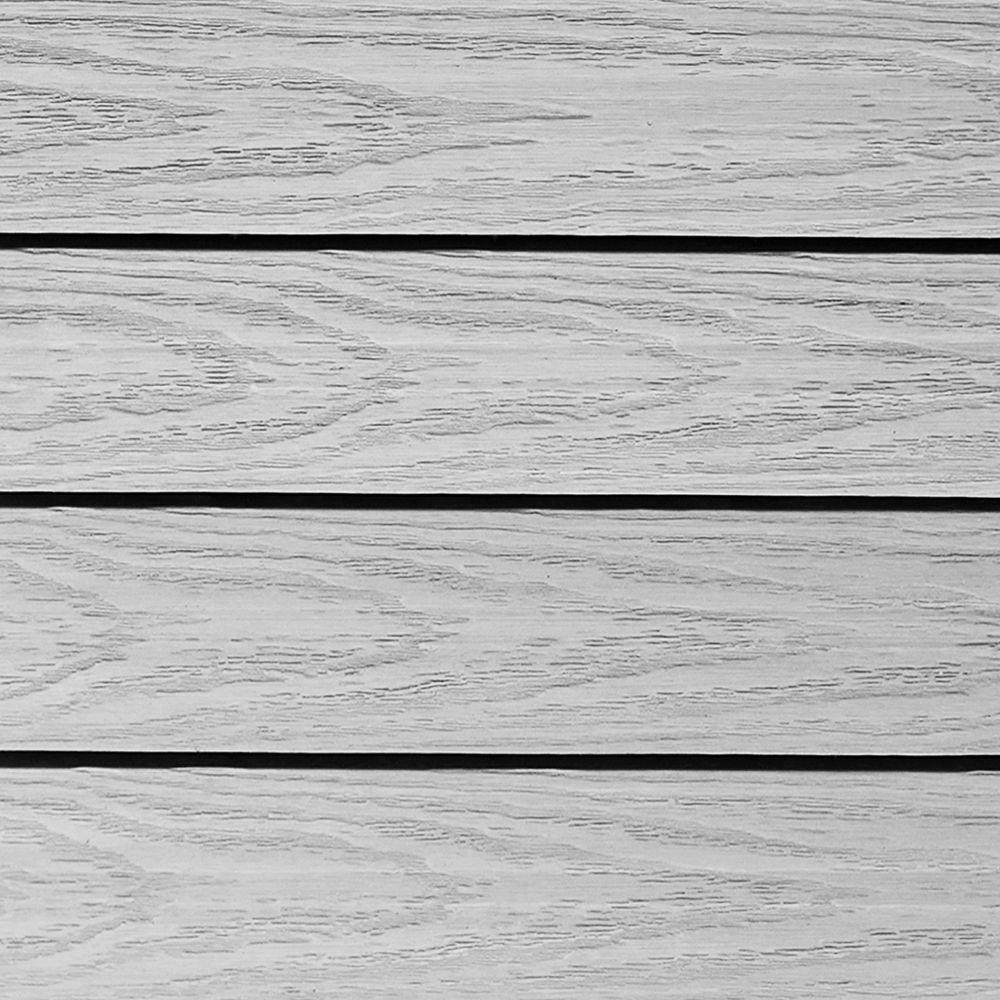 NewTechWood UltraShield Naturale 1 ft. x 1 ft. Quick Deck Outdoor Composite Deck Tile Sample in Icelandic Smoke White