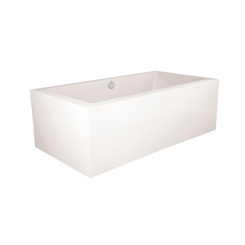 Chagall 5.5 ft. Acrylic Flatbottom Non-Whirlpool Freestanding Bathtub in White