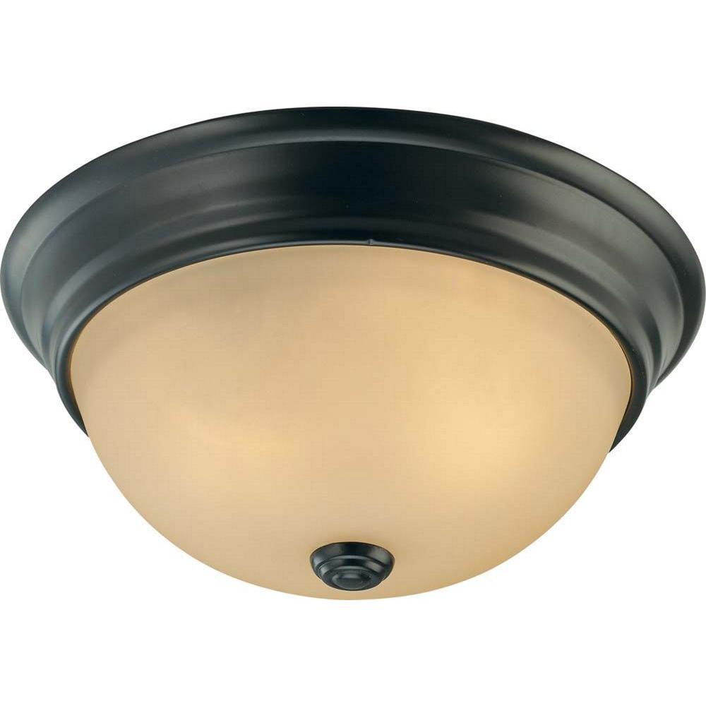 Volume Lighting Trinidad 2Light Antique Bronze FlushmountV758279