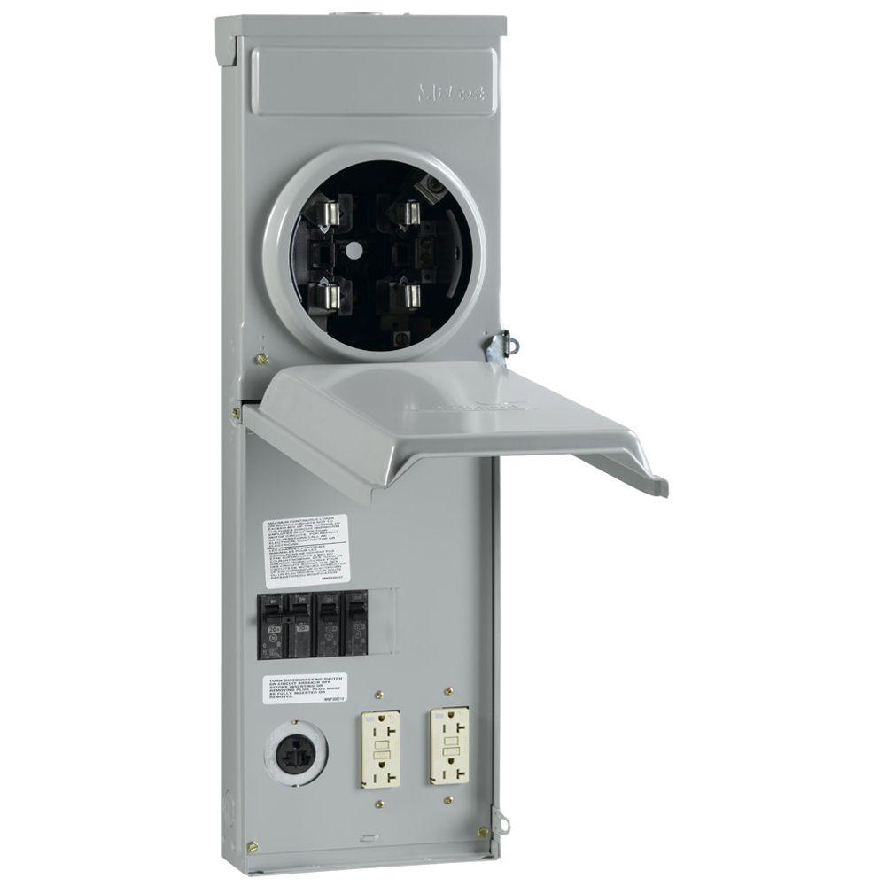 GE 100 Amp Metered Temporary Power Outlet Box