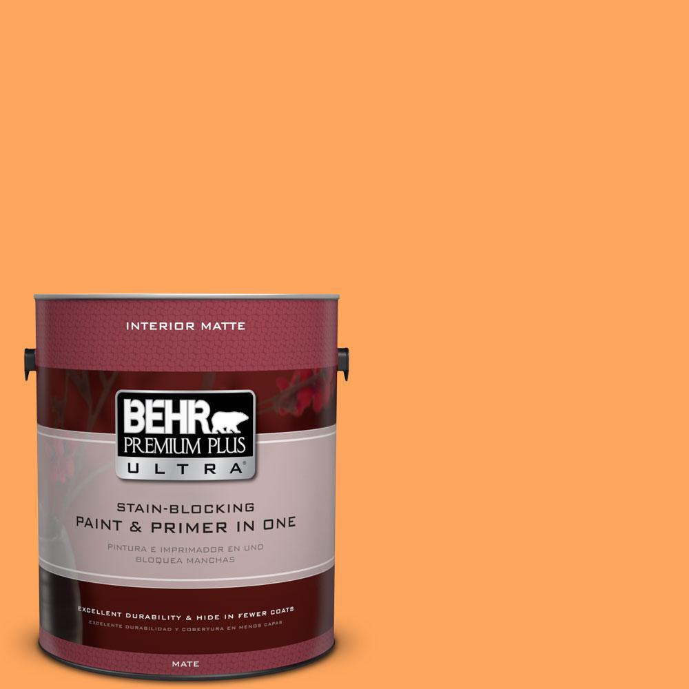 BEHR Premium Plus Ultra 1 gal. #270B-5 Melon Flat/Matte Interior Paint