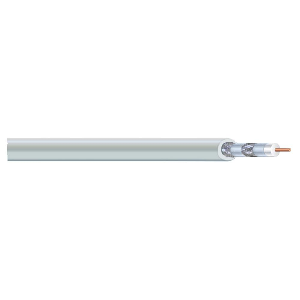 1000 ft. RG6U Quad Shield White Coaxial Cable