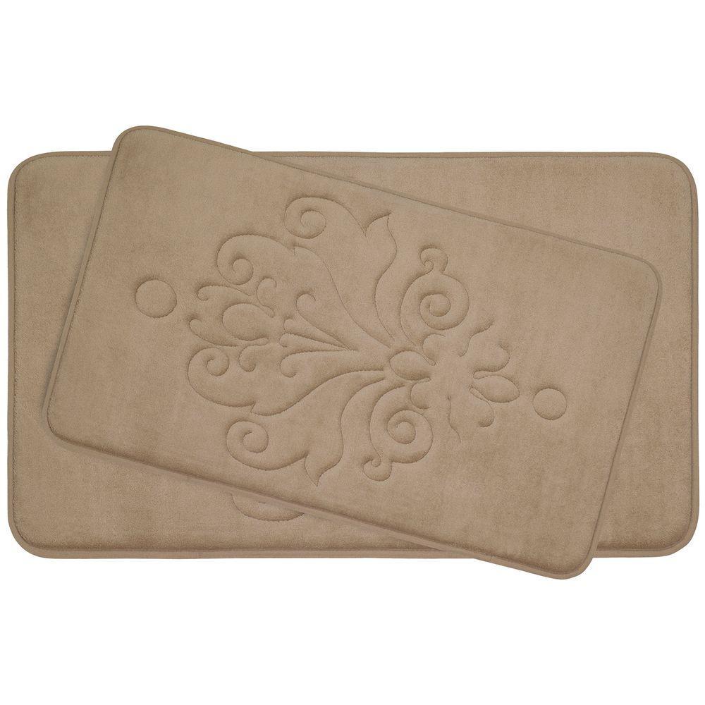 Reve Linen Memory Foam 2-Piece Bath Mat Set