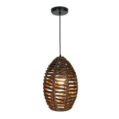 Ana 1-Light Dark Brown Pendant Bell