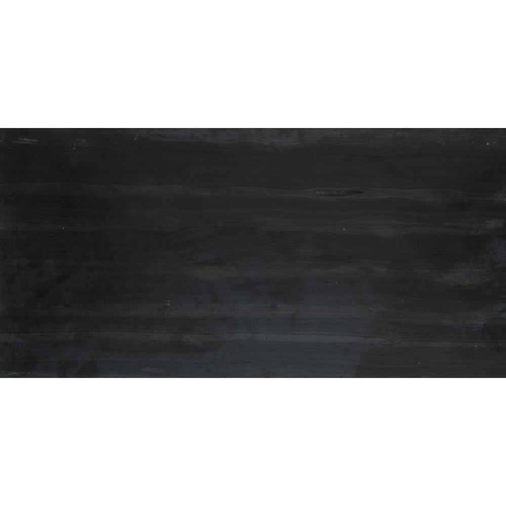 Emser Metro Black 12 in. x 24 in. Marble Floor and Wall Tile