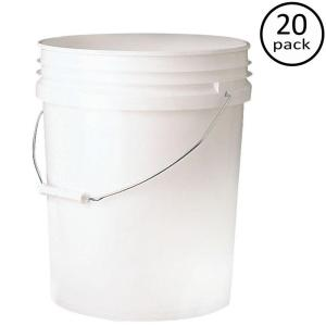 Premium 5 Gal Food Storage Container 20 Pack P9gl00fg The Home Depot