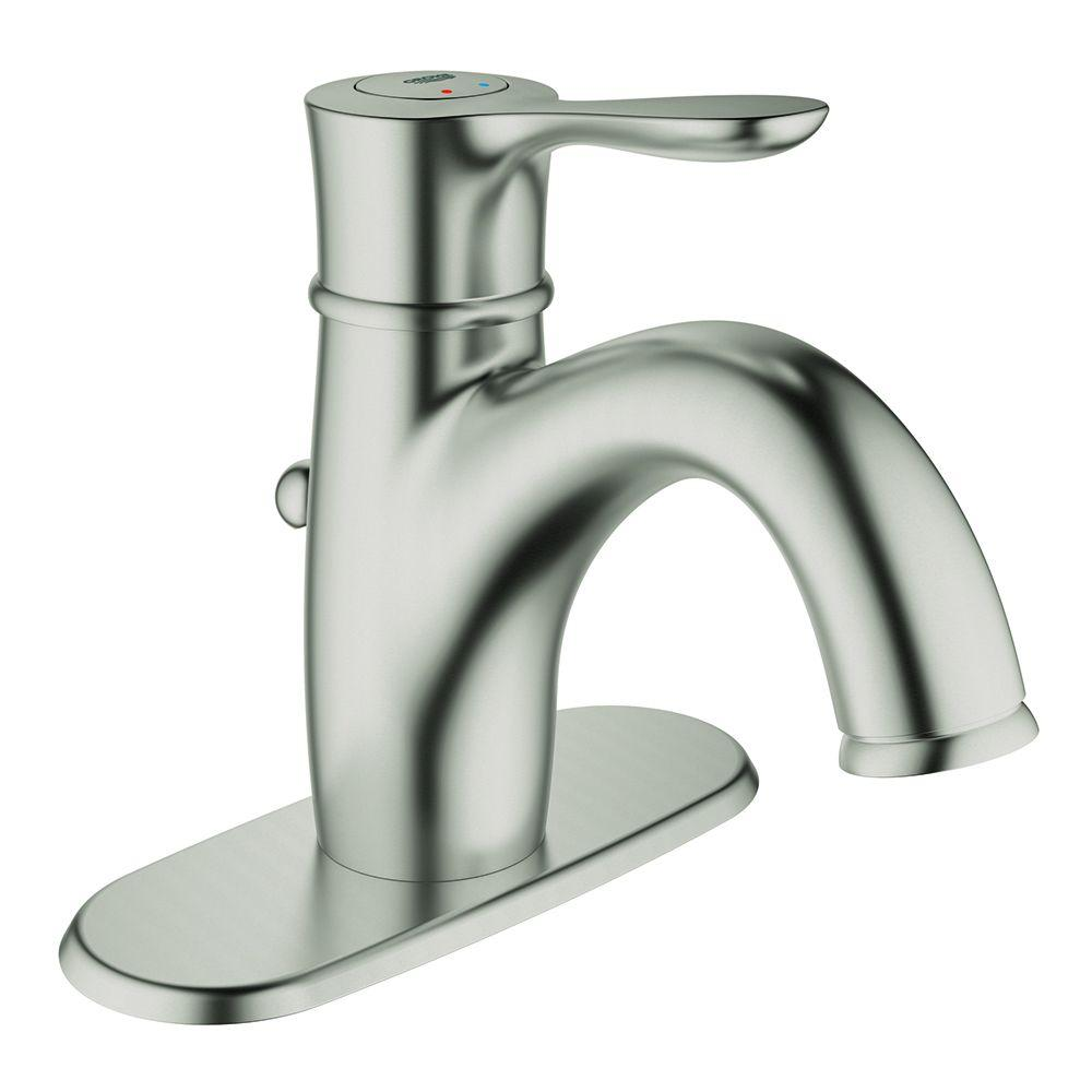 Parkfield Single Hole Single-Handle Bathroom Faucet with Escutcheon in Brushed