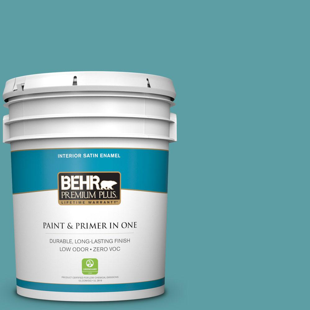 5 gal. #PPU13-05 Bali Bliss Zero VOC Satin Enamel Interior Paint