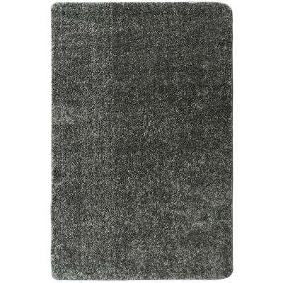 Luxury Shaggy Collection Shag Solid Design Gray 3 ft. 3 in. x 5 ft. Area Rug