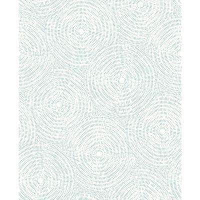 56.4 sq. ft. Vatten Light Blue Shibori Wallpaper