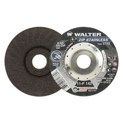 ZIP Stainless 4.5 in. x 7/8 in. Arbor x 3/64 in. T27 Cutting Disc for Stainless (25-Pack)