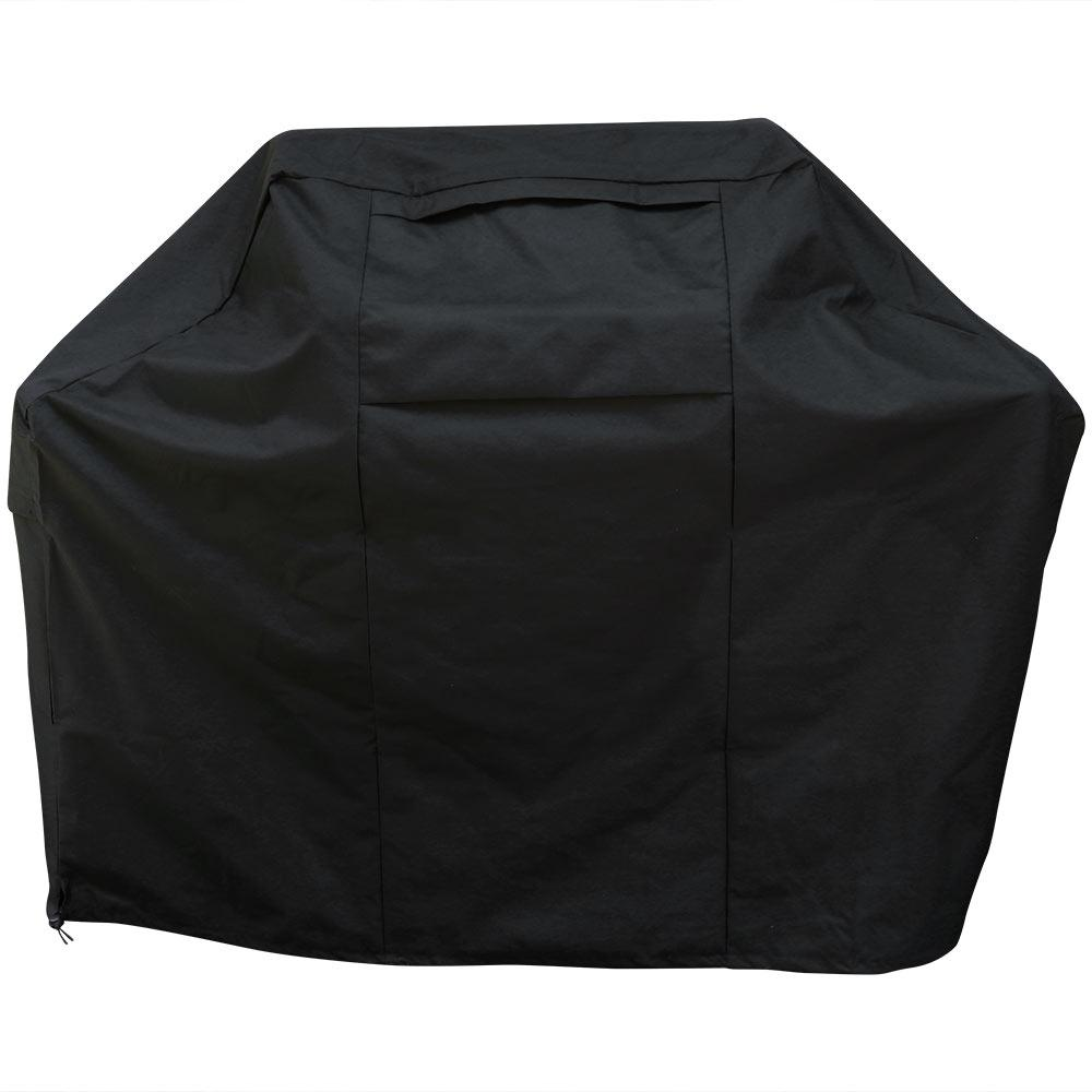 Sunnydaze Decor 58 in. Heavy-Duty 600D Polyester Waterproof BBQ Grill Cover in Black