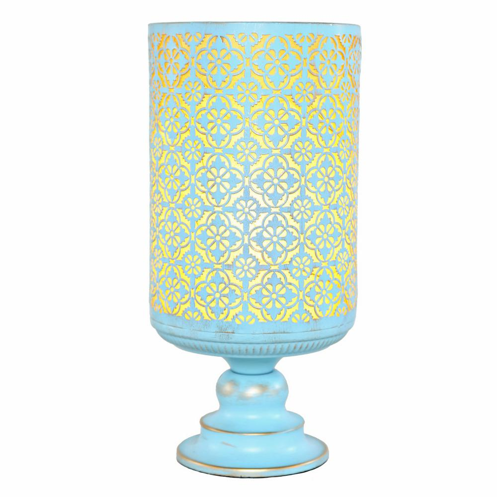 River Of Goods 15 In. Blue Table Lamp With Distressed