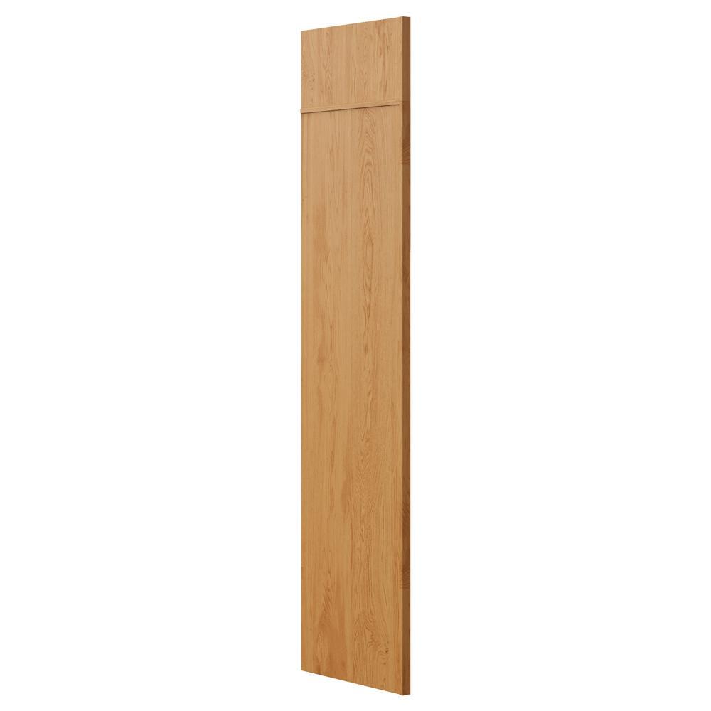 Refrigerator End Panel In Medium Oak
