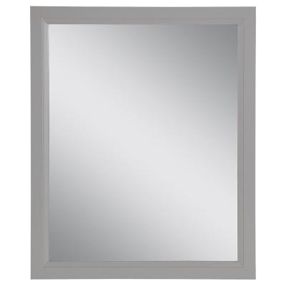 Stratfield 26 in. W x 31 in. H Framed Wall Mirror in Sterling Gray
