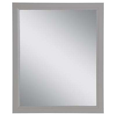 Stratfield 25.67 in. W x 31.38 in. H Framed Wall Mirror in Sterling Gray