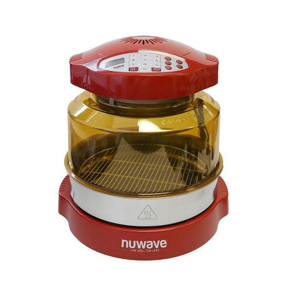 NuWave Pro Plus Red Oven with Extender Ring Kit