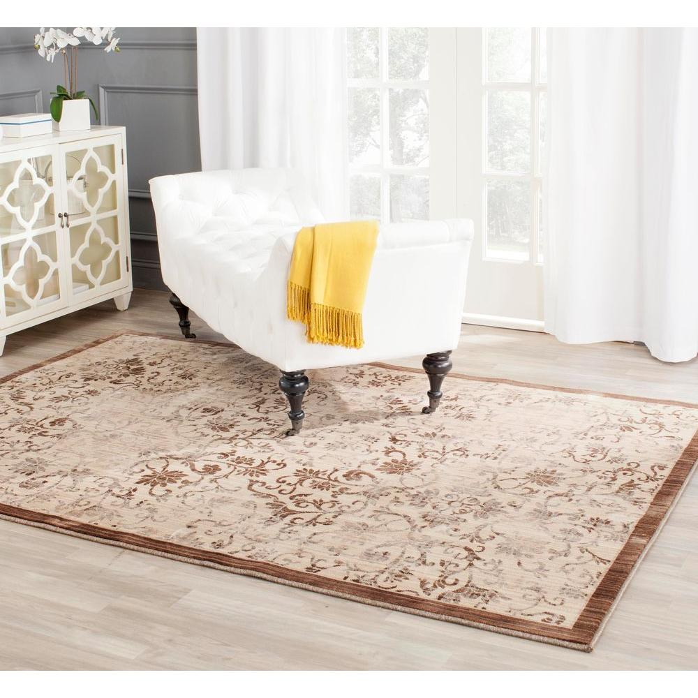 Infinity Yellow/Brown 4 ft. x 6 ft. Area Rug