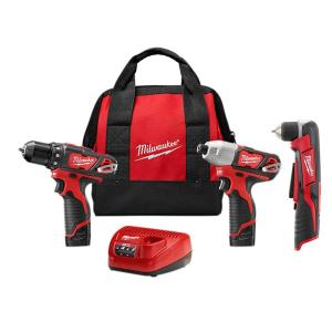 M12 12-Volt Lithium-Ion Cordless Drill Driver/Impact Combo Kit (2-Tool) with M12 3/8 in. Right Angle Drill