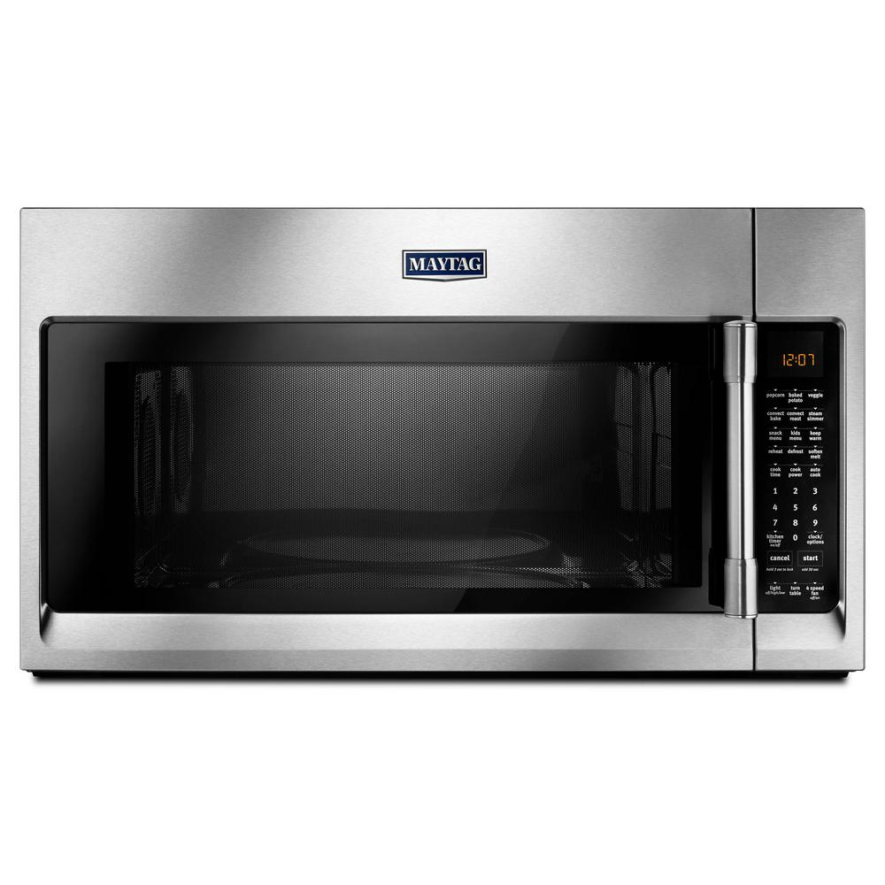 Maytag 1.9 cu. ft. Over the Range Convection Microwave in...