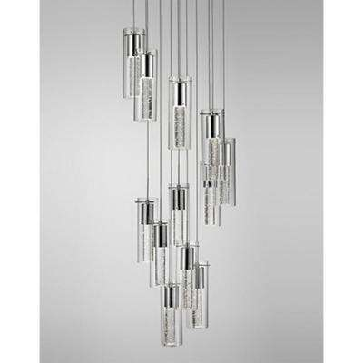 Kara 12-Light 60-Watt Equivalence Chrome Integrated LED Pendant