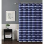 Truly Soft Maddow Stripe 72 in. Navy Shower Curtain