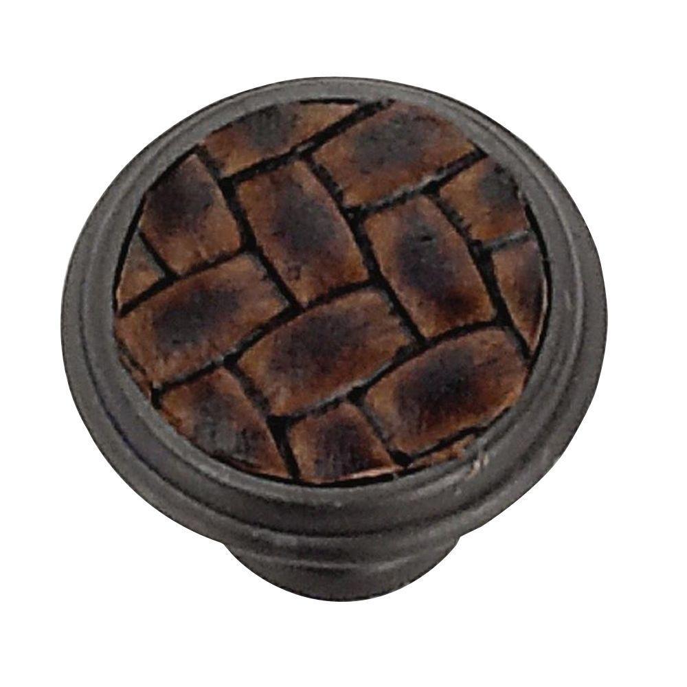 Laurey 1-1/8 in. Oil-Rubbed Bronze/Brown Round Cabinet Knob