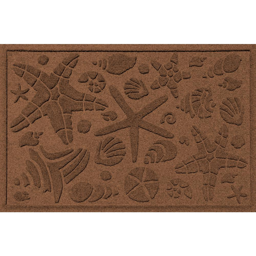 Aqua Shield Dark Brown 24 in. x 36 in. Beachcomber Polypropylene Door Mat