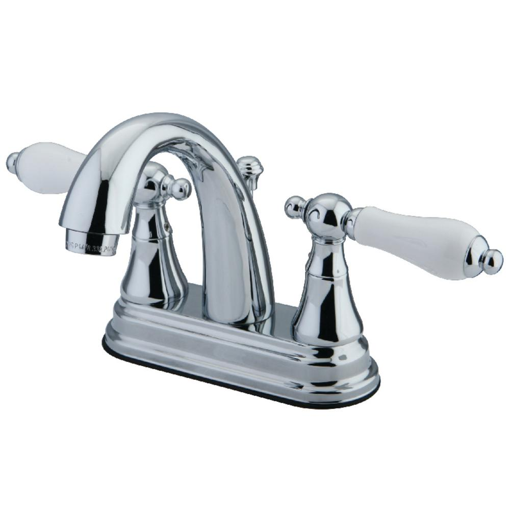 Kingston Brass English Vintage 4 in. Centerset 2-Handle Bathroom Faucet in Chrome