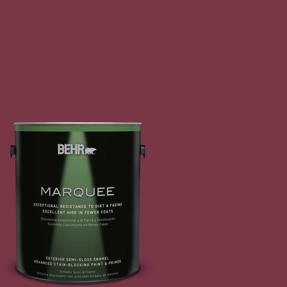 BEHR MARQUEE 1-gal. #S-H-110 Wine Tasting Semi-Gloss Enamel Exterior Paint, Reds/Pinks