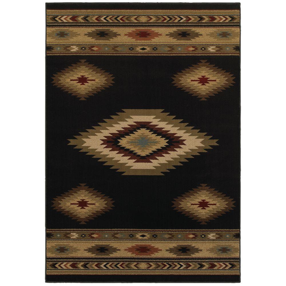 Home Decorators Collection Aztec Black 8 Ft X 10 Area Rug