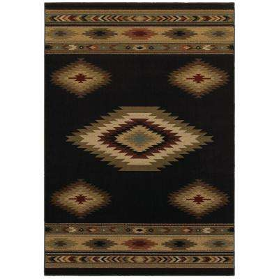 Aztec Black 10 ft. x 12 ft. Area Rug