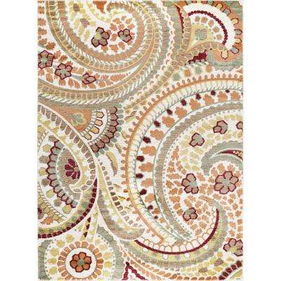 Deco Ivory 8 ft. x 10 ft. Transitional Area Rug