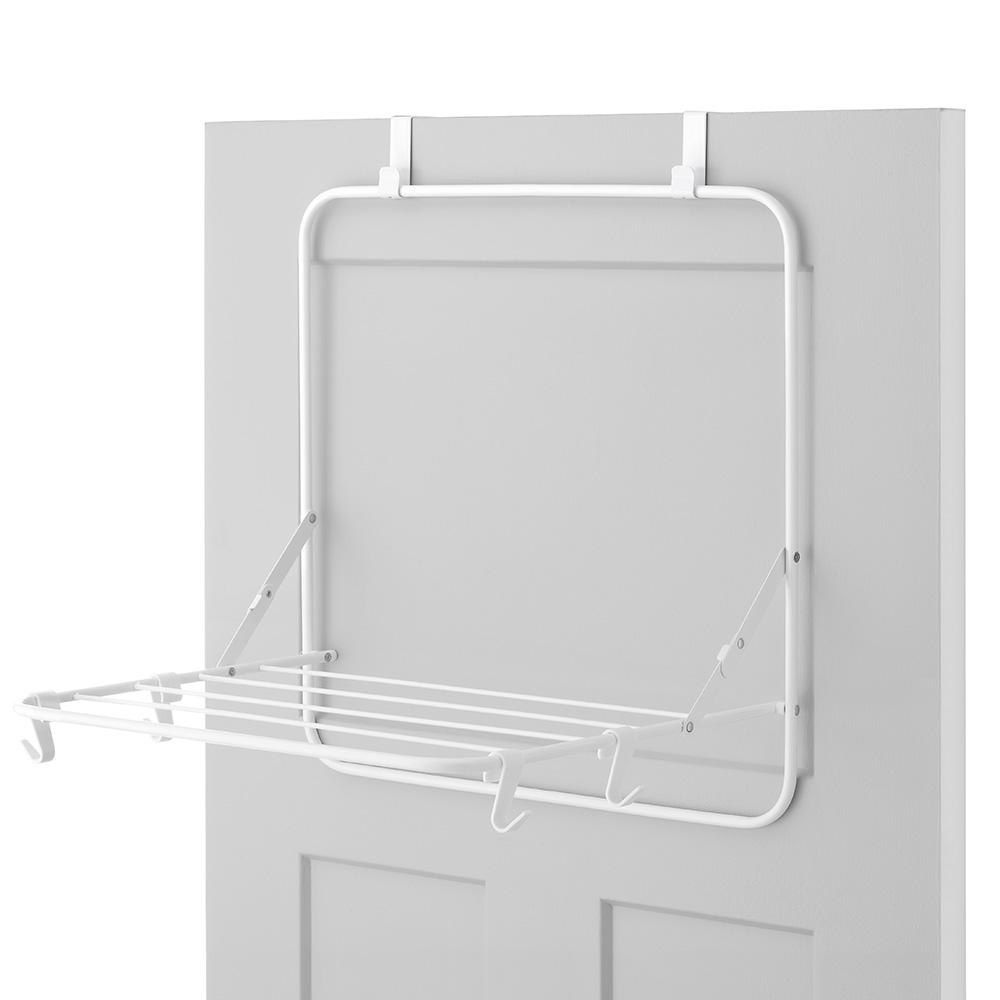 20 in. x 24.25 in. White Over The Door Drying Rack