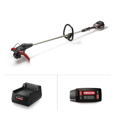 40-Volt Lithium-Ion Cordless Straight Shaft String Trimmer with 2.6 Ah Battery and Charger