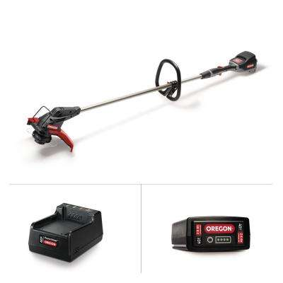 13 in. 40-Volt Lithium-Ion Cordless String Trimmer with Oregon Gator SpeedLoad head- 2.6Ah Battery and Charger included
