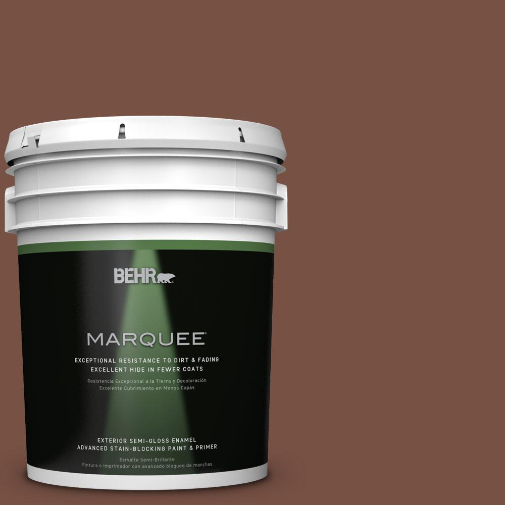 5-gal. #S190-7 Toasted Pecan Semi-Gloss Enamel Exterior Paint