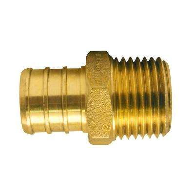 3/4 in. Brass PEX Barb x 1/2 in. Male Pipe Thread Reducing Adapter