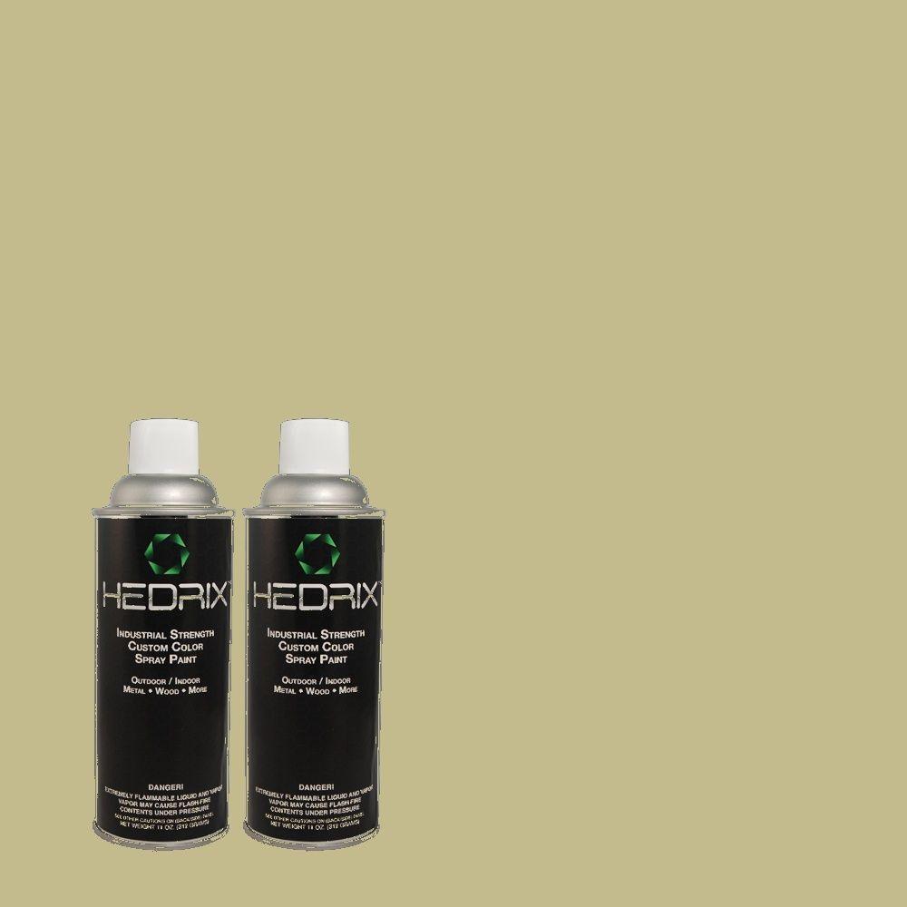 Hedrix 11 oz. Match of MQ6-56 Lichen Flat Custom Spray Paint (2-Pack)
