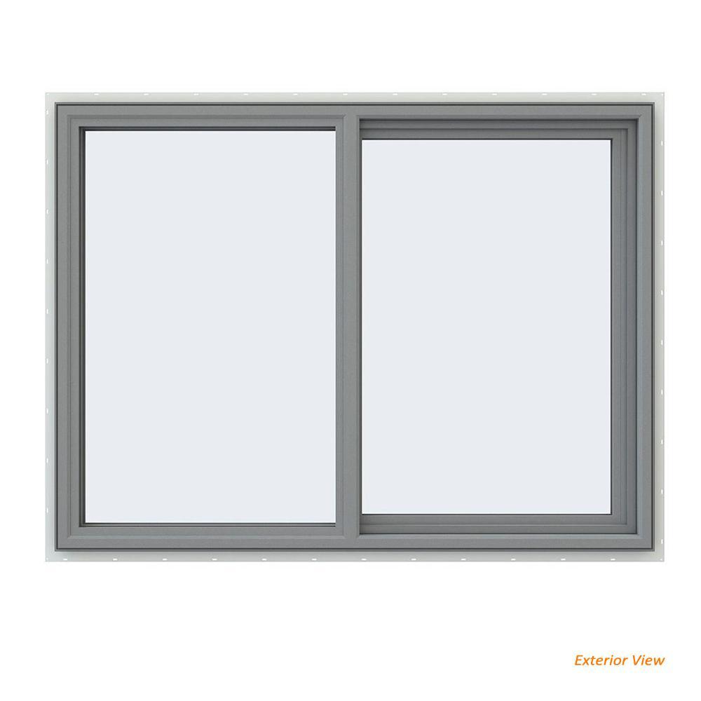 home depot pella windows sale jeldwen 475 in 355 v4500 series gray painted vinyl right