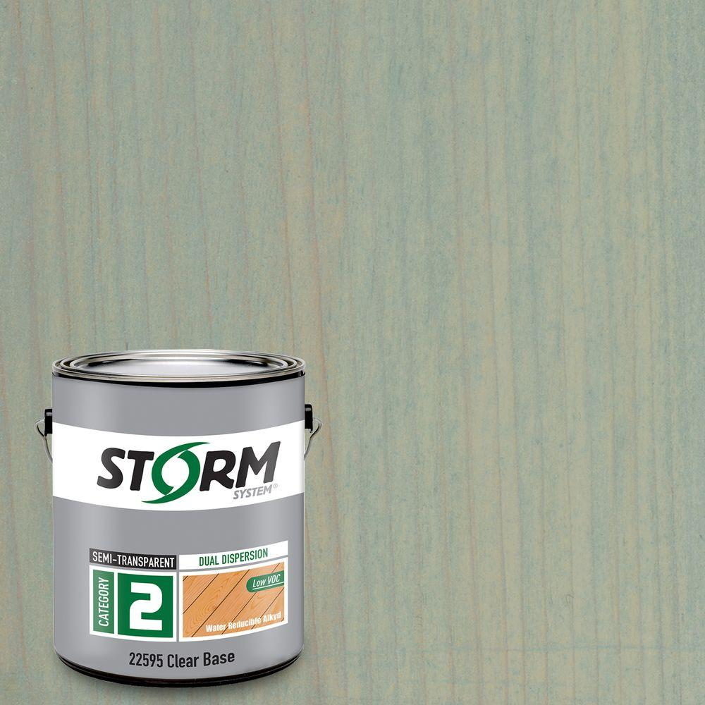 Storm System Category 2 1 gal. Base Lodge Exterior Semi-Transparent Dual Dispersion Wood Finish