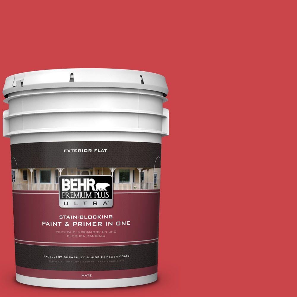 BEHR Premium Plus Ultra 5-gal. #P150-6 Whip Lash Flat Exterior Paint