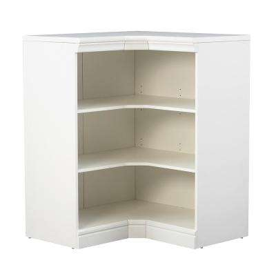 Manhattan Modular 3-Shelf Storage Corner Unit in White