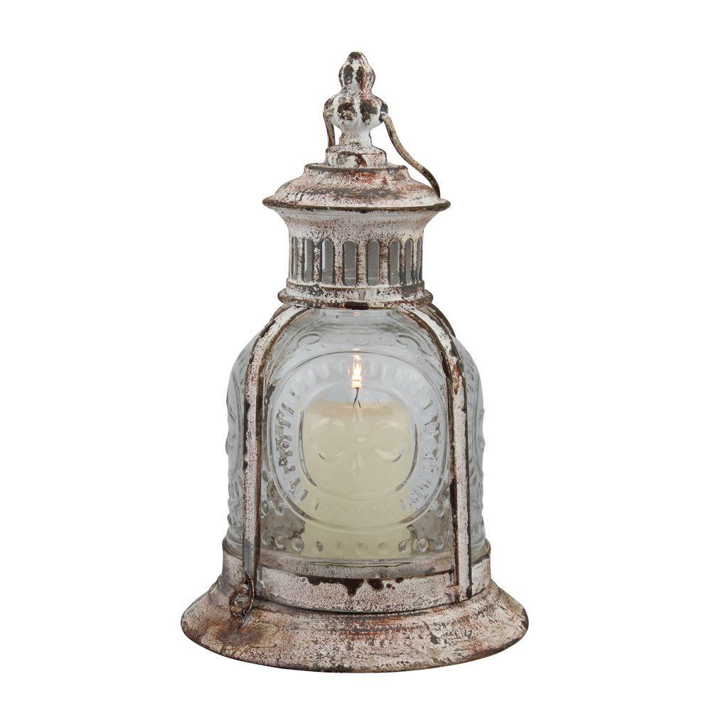 Stonebriar Collection Stonebriar Collection 10 in. x 6 in. Cafe Terrace Lantern, Weathered White