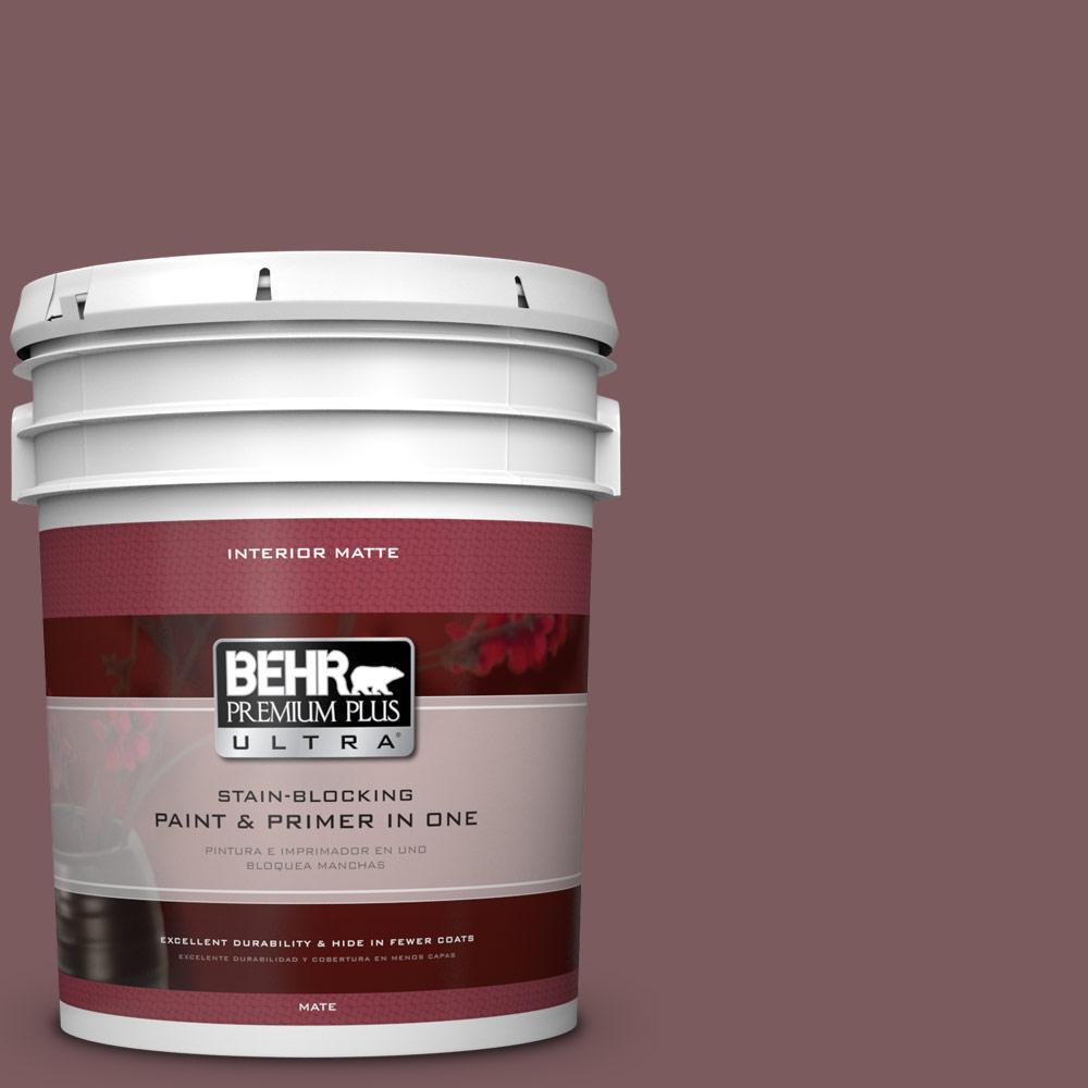 BEHR Premium Plus Ultra 5 gal. #110F-6 Purplestone Flat/Matte Interior Paint