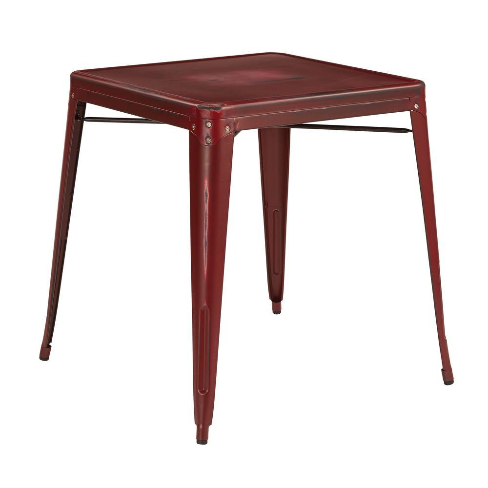 Bristow Antique Red End/Side Table