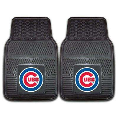 Chicago Cubs 18 in. x 27 in. 2-Piece Heavy Duty Vinyl Car Mat