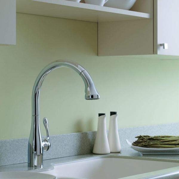 Hansgrohe Allegro E Single-Handle Pull-Out Sprayer Kitchen Faucet in Chrome